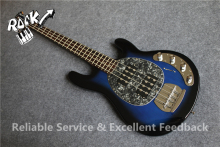 Latest Finished Chinese StingRay Ball Music man Bass  Guitar 4 Strings Vintage Blue In Stock For Sale