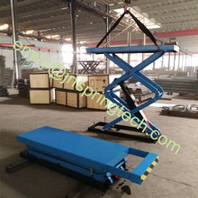 New style electric automobile scissor lift with extended platform use for car lift SP-M3000