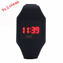 Men's Women's children's watch 2017 best-selling outdoor sports Required Silicone LED Sports Bracelet Digital Wrist Watch #00(China)