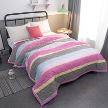 Quilts summer blanket sheet Home Textile Patchwork quilts duvet set comforter set bed linen cartoon quilted bedspread sheet(China)
