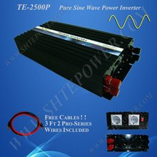 NEW 12v dc to 110v ac pure sine wave power inverter 2500w solar wind inverter