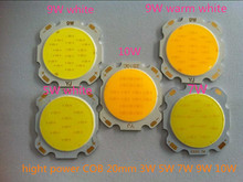 5PCS/lot  COB LED hight power  Pure white warm white surface light source 3W 5W 7W 9W 10W 300mA  Luminous Dimension 20mm Chips