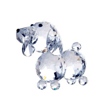 H&D Buy one get 1 at 50% off (add 2) 1.8inch Clear Crystal Dog Figurines Paperweight Crafts Collection Souvenir Gifts Home Decor(China)