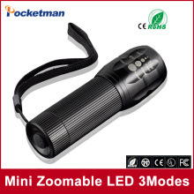 Free shipping cheaper and practical 2000Lumens High Power Torch Zoomable LED Flashlight Torch light For camp Flashlight