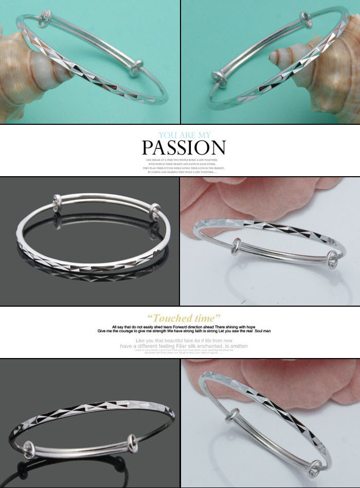 Retro fashion bangle carving decorative pattern.Solid 925 silver girl bracelets.Simple woman sterling silver bracelet.jewelry