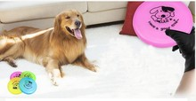1PCS Resistant Outdoor Large Dog Toy Training Behaviour Aids Plastic Puppy Toy Dog Frisbee Flying Disc Tooth(China)