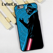 LvheCn phone case cover fit for iPhone 4 4s 5 5s 5c SE 6 6s 7 8 plus X ipod touch 4 5 6 Darth Vader Star Wars Dark Side Art(China)