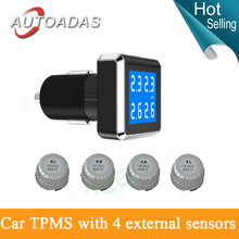 new design!tyre pressure monitoring system with 4 external sensors blue background TPMS PSI/BAR diagnostic tool tire pressure