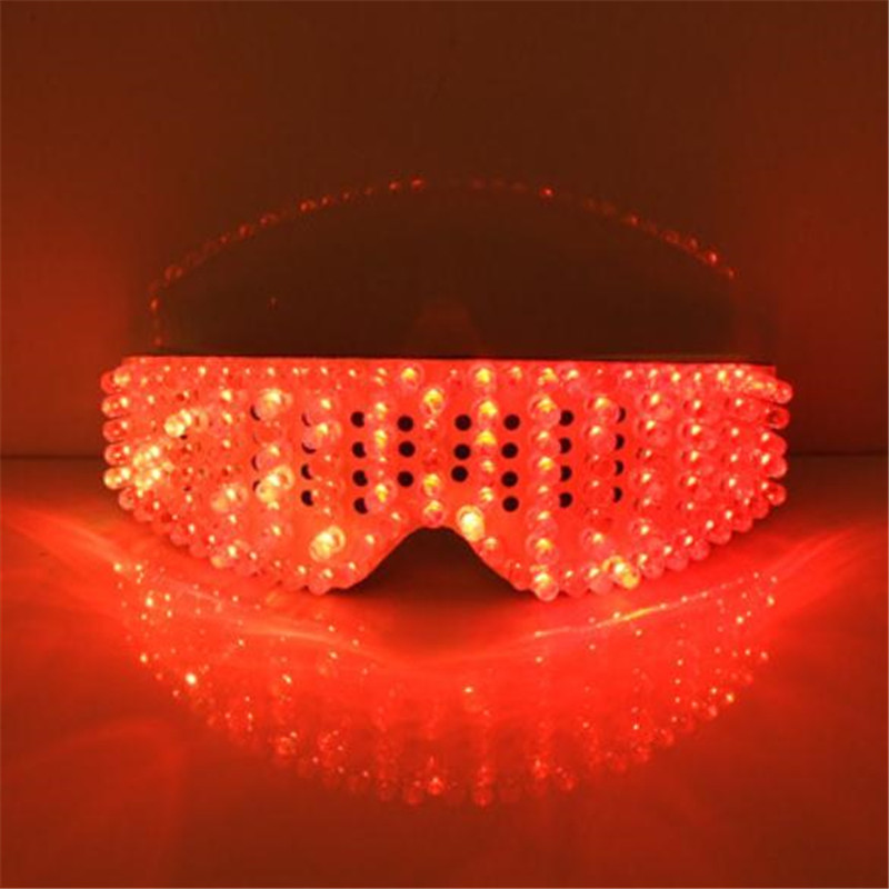 New Product Led Glasses Luminous White Lighting Halloween Glasses For Parties Event Party Supplies Free Shipping06