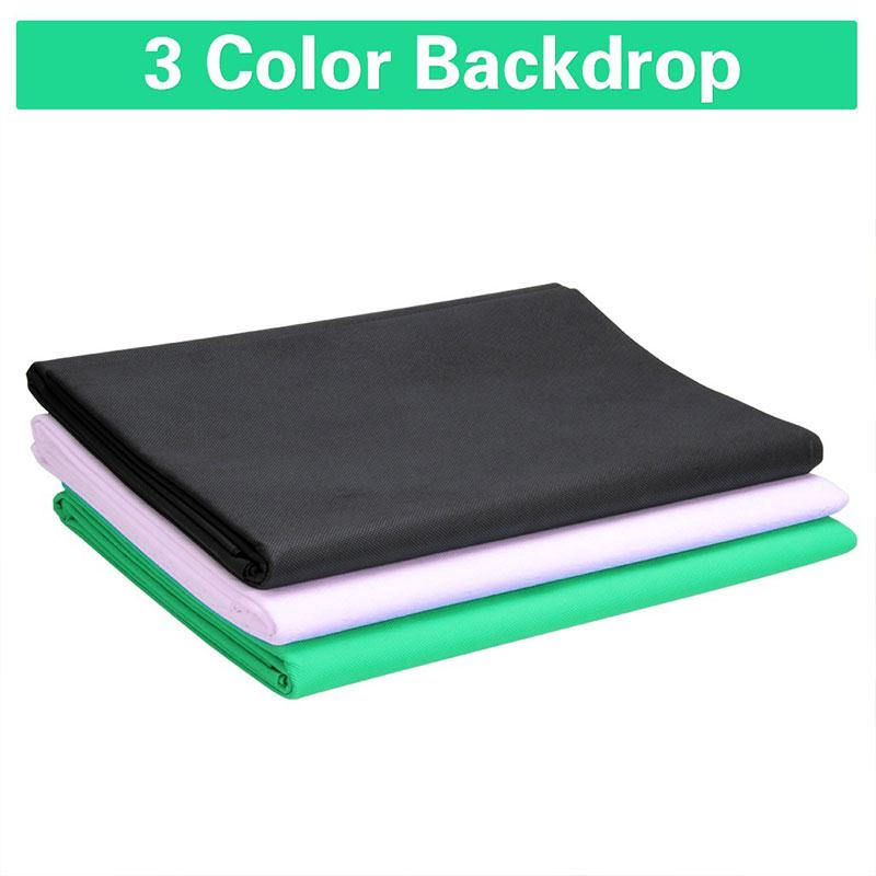 1.6x3M/5x10FT Photography Backdrops Photography Studio Non-Woven Backdrop Photo Background Props Screen Solid Green Screen<br><br>Aliexpress