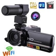 1080P Full HD Camcorder Remote Control Infrared Night Vision Camera 24MP 16X Digital Zoom Video Camera w/ Microphone Touchscreen(China)