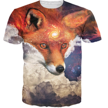 Spring and summer Print 3D T Shirts Short Sleeve Men Tshirts O Neck Casual Wolf Clothing Novelty Style T-shirts size S-3XL