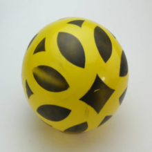 20cm Kids sports Inflatable Toy balls Geometric shape Two-color printing Plastic PVC bouncing soccer Ball Children Baby gifts(China)