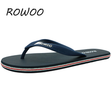 Hot Sale New 2016 Summer Rubber Shoes Fashion Flip Flops Men Sandals Male Flat Beach Slippers Black Red Plus Size 39 - 46