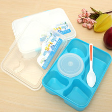 1400ML Portable PP Microwave Bento Lunchbox 5 in 1 Food Container LunchBox Bowl Dinnerware Tableware Tools Fastship