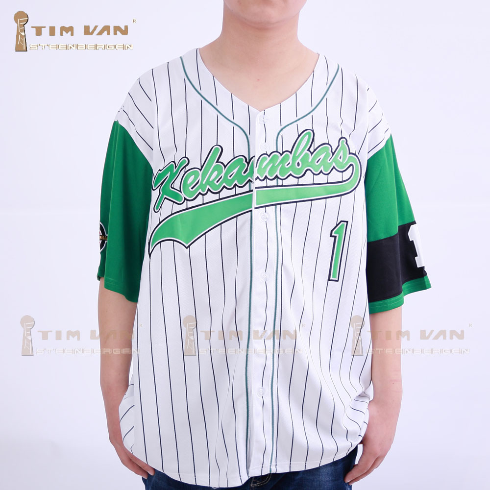TIM VAN STEENBERGE Jarius G-Baby Evans 1 Kekambas Baseball Jersey Includes Patch Stitched Sewn-Green<br><br>Aliexpress