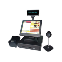 Free shipping Pos System All In One Touch Screen Pos Pc Point Of Sale Pos System Cash Register Machine