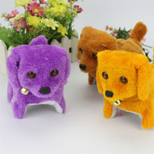 Electronic Plush Toy Dog Doll Can Advance And Retreat Glowing Eyes Of The Dog's Voice Random Color