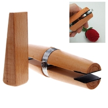 Wood Ring Clamp Jewelers Holder Jewelry Making Hand Tool Benchwork Professional wood tweezers(China)