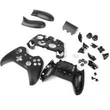 Full Housing Shell Case Kit Replacement Parts for Xbox One Wireless Controller - Black