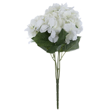 "TFBC Artificial Hydrangea Flower 5 Big Heads Bouquet (Diameter 7"" each head) 7 Colors"