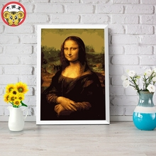 Da Vinci Mona Lisa beauty Digital Diy oil painting by numbers wall decor on canvas oil paint coloring by number drawing picture(China)