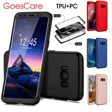 GoesCare Luxury 360 Full Protective TPU+PC Case For Samsung Galaxy S8 S7 Edge Shockproof Hybrid Bumper Cover For Samsung Note 8