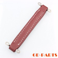 1PC Dark Red Vintage Leather Look Handle For Fender Mesa VOX AH2 AH3 Speaker Cabinet Steel Reinforce Inside(China)