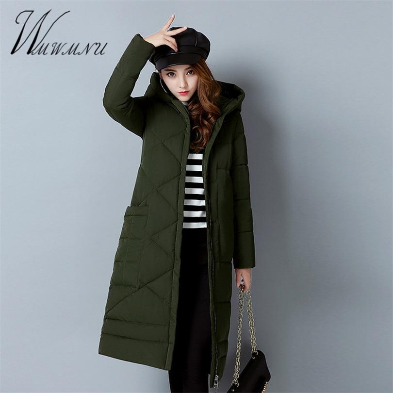 Wmwmnu 2017 New Female Warm Winter Jacket Women Coat Thin Cotton Parka Ultra-light Cotton-padded Jacket Long Outwear Slim Îäåæäà è àêñåññóàðû<br><br>