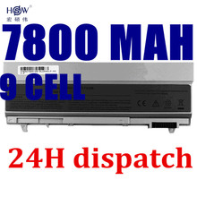 HSW New 9 CELLS Laptop Battery For Dell Latitude E6400 E6410 E6500 E6510 ,PT434 PT435 PT436 PT437,R822G U844G W0X4F bateria akku(China)