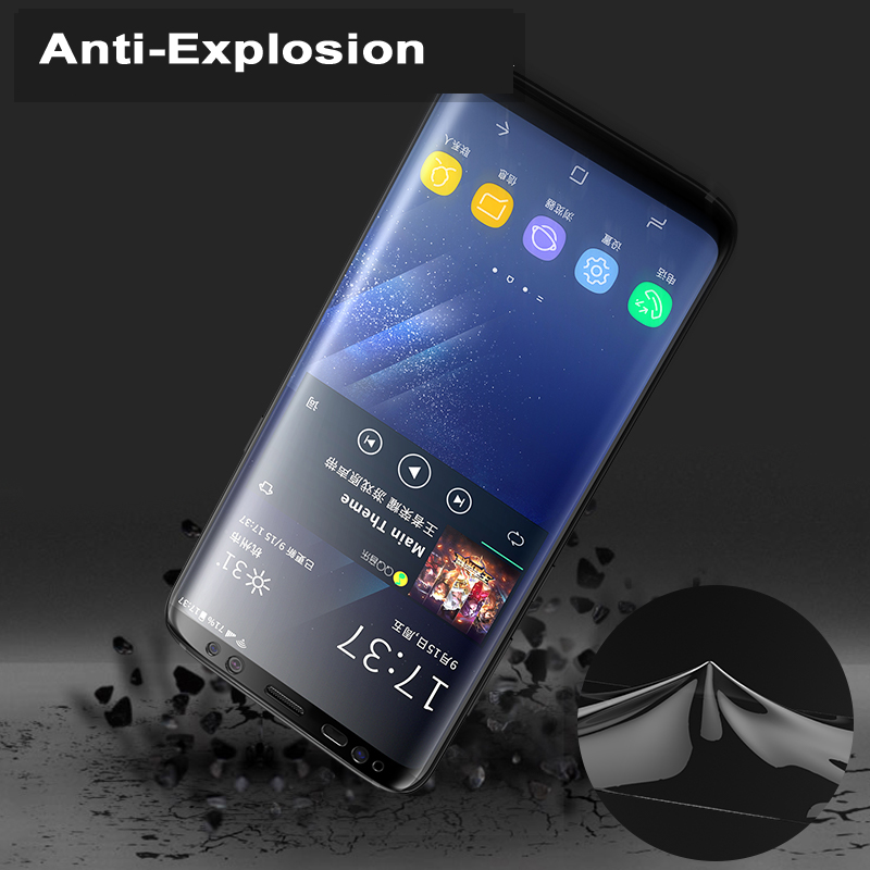 For Samsung Galaxy S9 S8 Plus A8 S7 Edge Screen Film 3D Full Cover Front+Back Soft Ultra Thin Screen Film Guard Covers