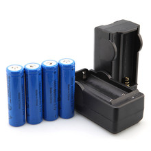 Best Price 4PC 6000mAh 18650 Rechargeable Li-ion Battery 3.7v+2PC Battery Charger(China)