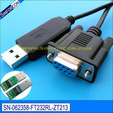 cross wired usb serial db9 ftdi ft232r usb rs232 null modem cable pc control tv cable(China)