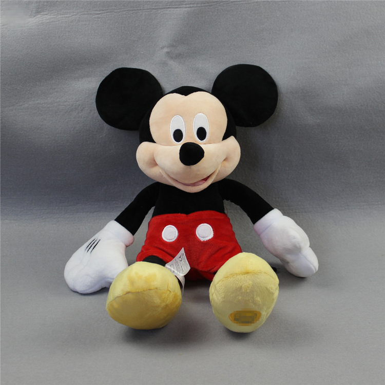 Free shipping 1pcs 43cm Original mickey mouse plush soft doll,high quality plush doll gift for kids boys girls birthday gift(China (Mainland))