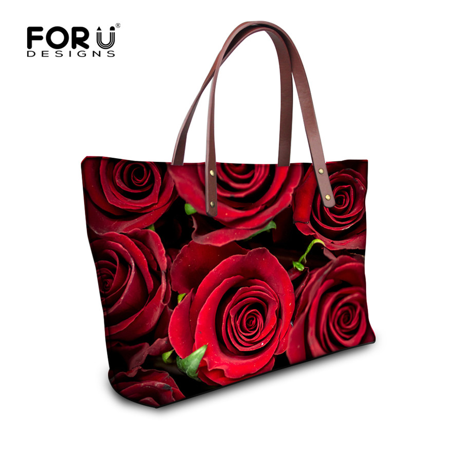 FORUDESIGNS Vintage Big Women Tote Bags Luxury Brand 2017 Female Designer Red Flower Handbags High Quality Ladies Handbag Bag<br><br>Aliexpress