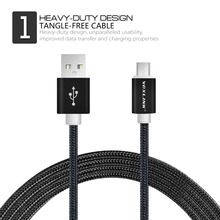 VOXLINK Micro USB Cable Fast Charging Mobile Phone USB Charger Cable 1m 2m 3m Data Sync Cable for Samsung HTC LG Sony Android