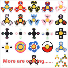 Cartoon Gyro Fidget Spinner Hand Spinner Finger toy Triangle Handspinner Metal bearing Plastic Anti Stress Kids Gift Autism ADHD