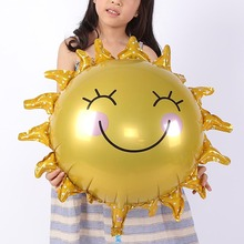 FANTASTIC  IDEA Lovely Sunflower Balloon, Cartoon Foil Birthday Party Air Traveler Balloon Child Baby Toy Holiday Ball Decoratio
