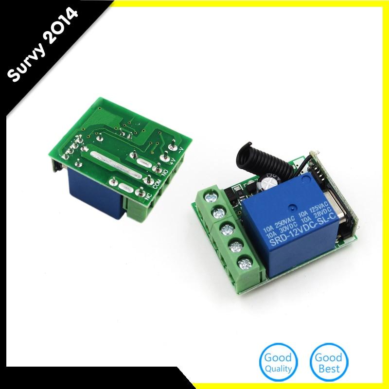 Mayitr DC12V 10A 1 Channel Receiver Wireless Relay RF 433MHz Remote Control Switch DIY Module