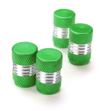 Green Car Wheel Accessories SET/4PCS Car Truck Bike Bicycle Motorcycle Tyre Air Wheel Valve Stem Caps
