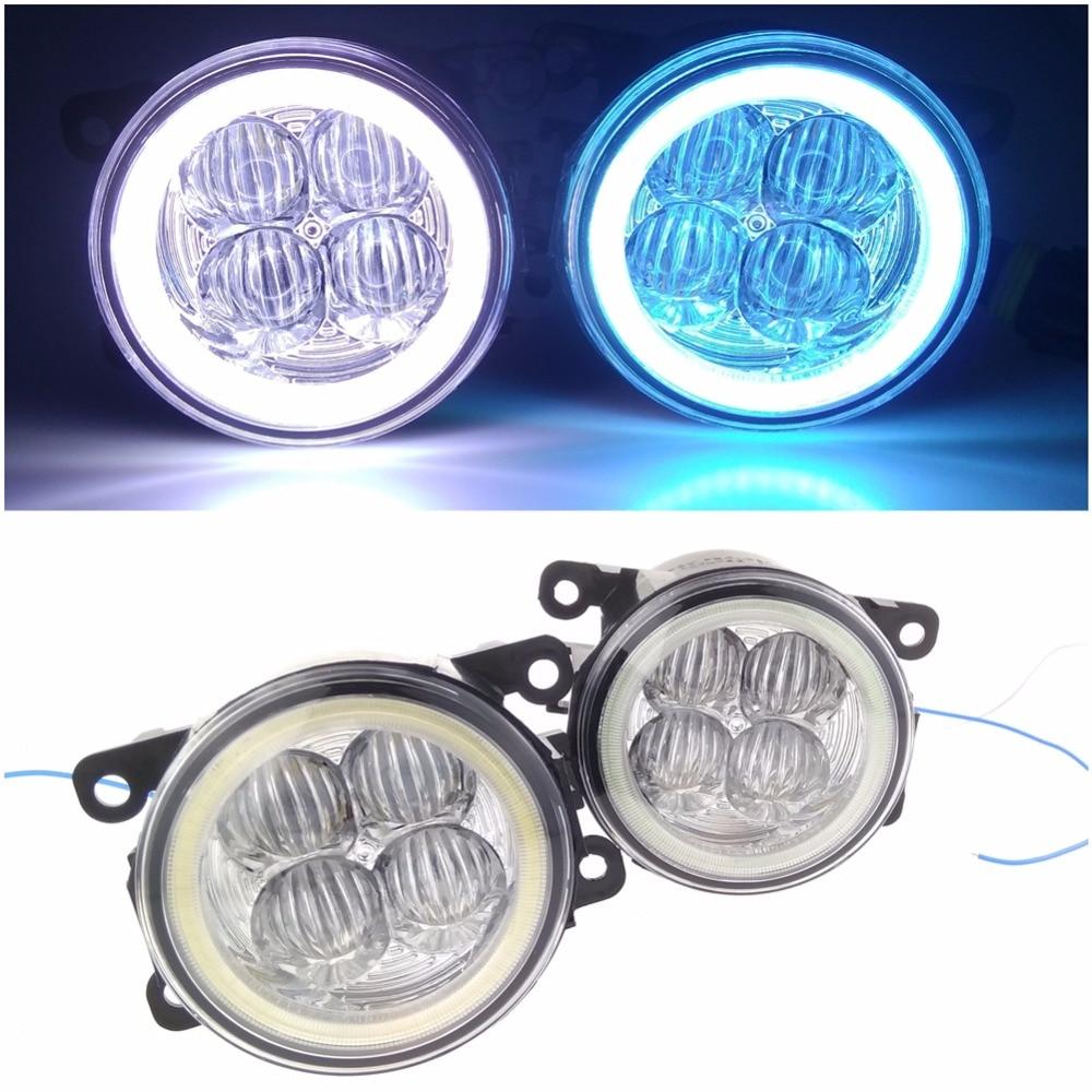 Angel eye LED fog lamp 9CM daytime running light Spotlight DRL OCB lens<br>