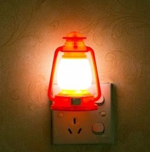 The red lantern led night light lamp socket with switch plug creative small bulb feeding bedroom luminous energy