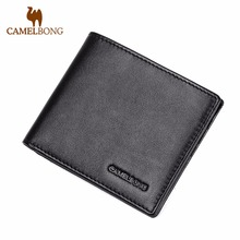 2017 Special Offer Rushed Men Wallet Genuine Leather Credit Card Id Holder Money Clip Two Layer Portfolio CamelBong Brand