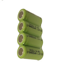 Rechargeable 2/3aa Nimh Battery 1.2v 650mah x 5pcs(China)
