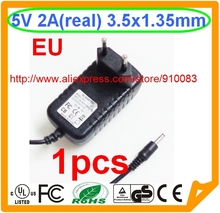 High quality IC 1PCS New 5V 2A 3.5mm 1.35mm EU Adapter Computer Products adaptor for Tablet MID PC(China)