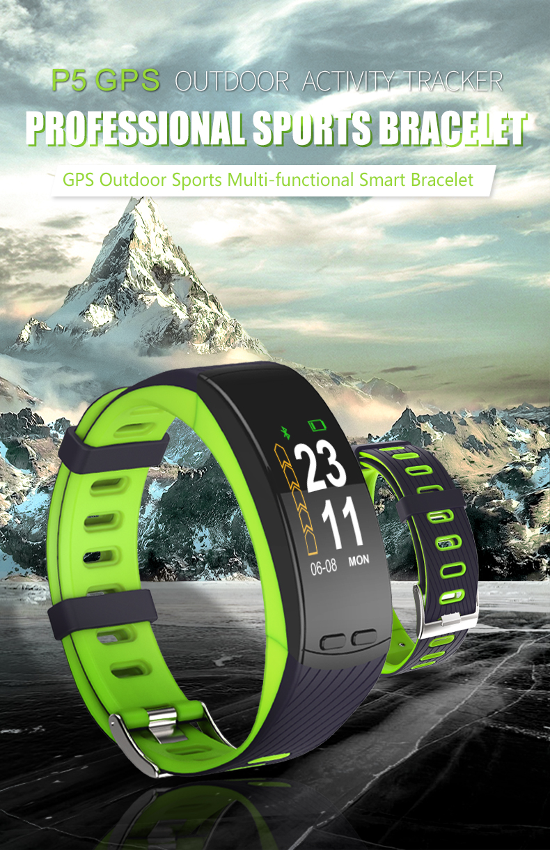 2018 P5 Smartbrand GPS - Smart Heart Rate Monitor Smart Band Watch Phone Activity Tracker (1)
