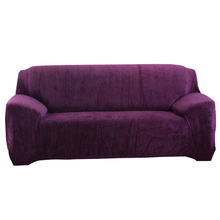Svetanya Flannel Solid Sofa Cover Elastic Slipcover for Sectional Sofa Single L Shaped Loveseat Sofa Couch Case