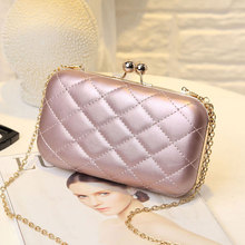Evening Bag Lady Women Party Wedding Glitter Chain Clutch Case Box Handbag Purses Hight Fashion Elegant Style Cute Shoulder Bag