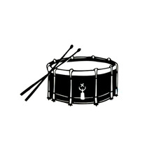 15.2*9.5CM Fashion Percussion Snare Drum Car Stickers Personalized Motorcycle Vinyl Decals Black/Silver C7-1208(China)