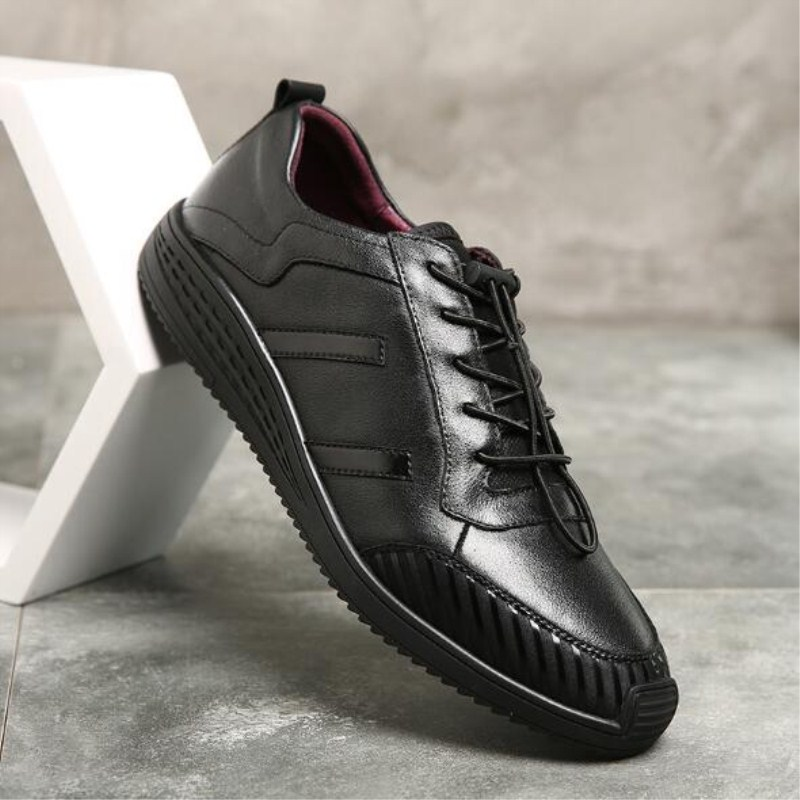 New style mens shoes four seasons really leather round headband trendy leather shoes selling wild paragraph soft surface casual<br>